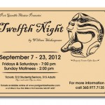 "Poster design for Port Gamble Theater's ""Twelfth Night,"" Port Gamble, WA"