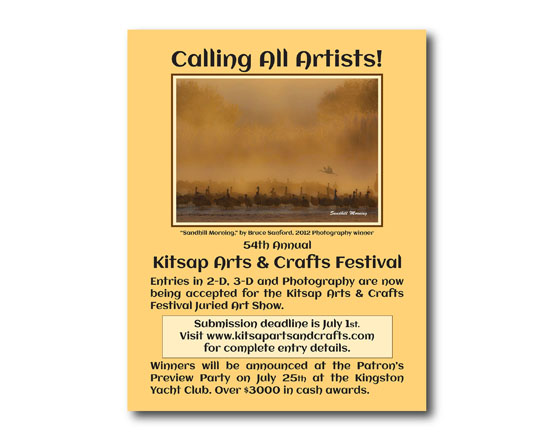 Poster design for Kitsap Arts and Crafts Festival - Kingston, WA