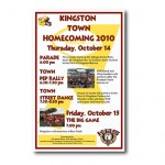 Poster design for Chamber-sponsored Homecoming Parade, Kingston, WA