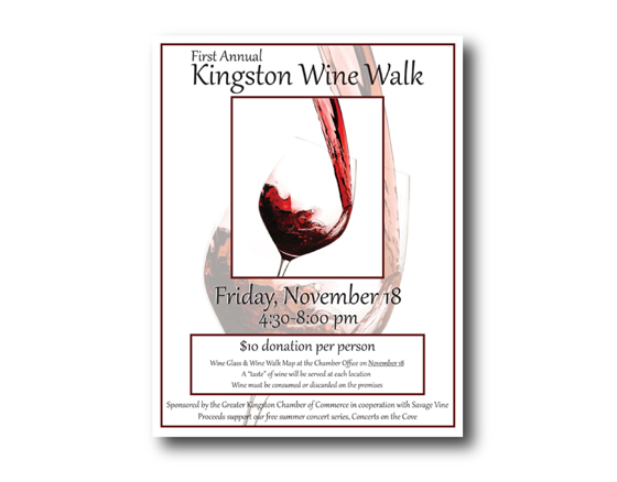 Poster design Chamber Fund Raiser -Wine Walk, Kingston, WA