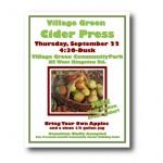 Poster design Cider Press Event, Village Green, Kingston, WA
