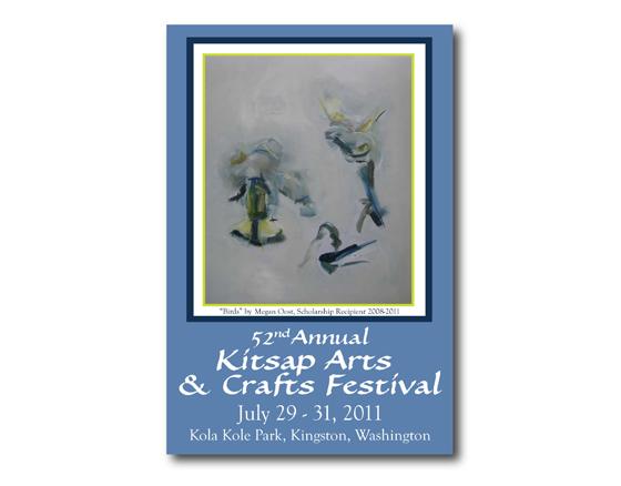 Poster Design, Kitasp Arts & Crafts Festival - 2011, Kitsap County, WA