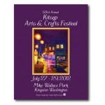 Kitsap Arts & Crafts Festival poster, Kingston, 2012