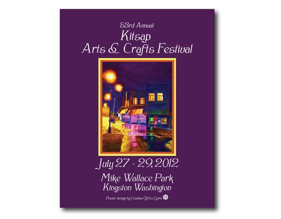 Poster design Kitsap Arts & Crafts Festival- 2012, Ktsap County, WA