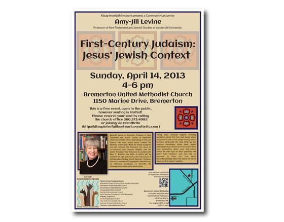 Event poster design for Kitsap Interfaith Network, Kitsap County, WA