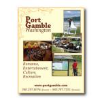 Magazine ad design for Port Gamble, WA for placement in Bainbridge Island magazine.