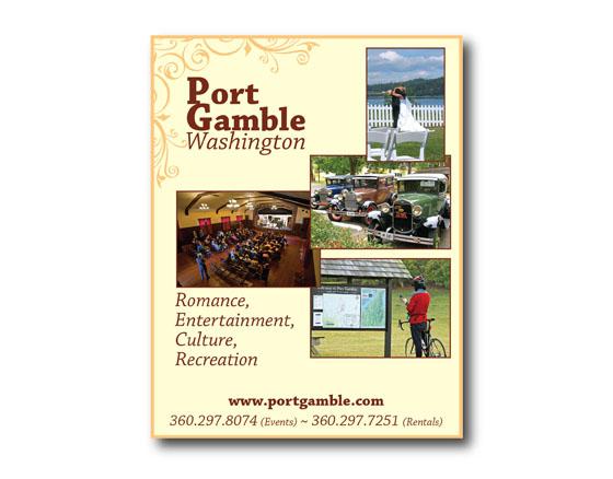 Magazine Ad for Port Gamble, WA