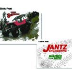 T-shirt design for Team Super Jeep, winning contestants of an off-road driving reality show set in Alaska