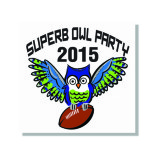 A graphic designed for online invitations to a Super Bowl party using an elegant pun!