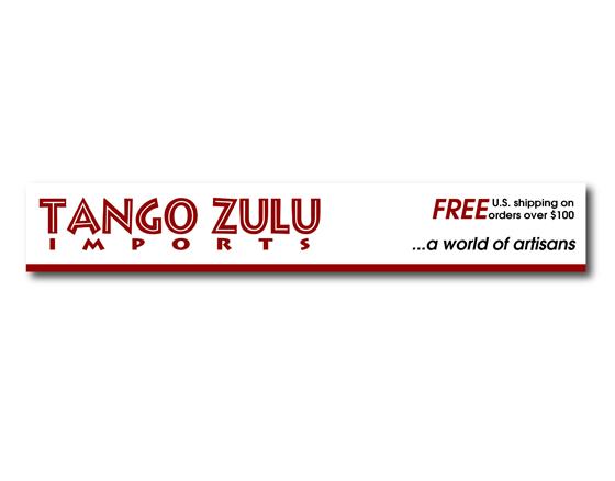 Web banner re-design for Tango Zulu Imports, Port Gamble, WA
