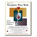 Poster design for Kingston Chamber Fundraiser: Wine Walk, Kingston, WA