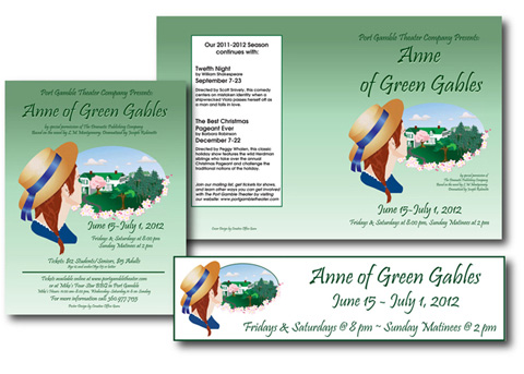 Anne of Green Gables marketing materials