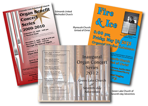 Church concert flyers and programs
