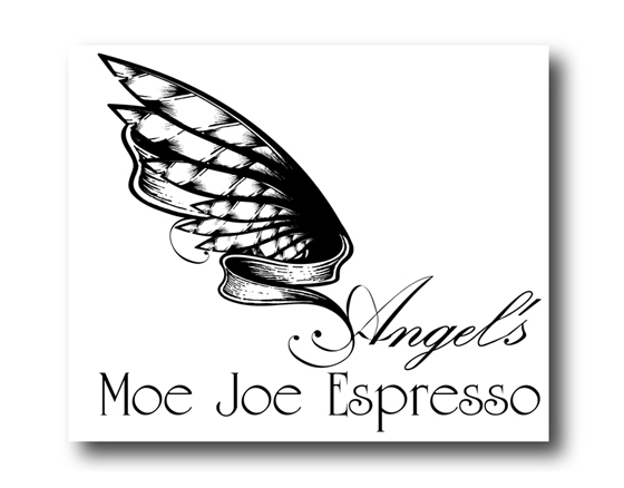 Logo design for Angel's Moe Joe Espresso, Kingston, WA