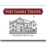 Logo design for Port Gamble Theater, Port Gamble, WA