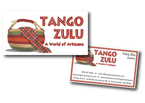Marketing materials for Tango Zulu in Port Gamble